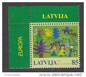 Europa Cept 2006 Latvia 1v (corner)  ** Mnh (25526E) - Europa-CEPT