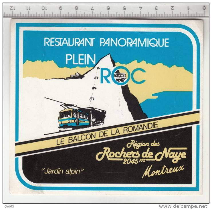 Restaurant Panoramique Plein Roc - Rochers De Naye  °  Autocollant /  Adesivi /  Aufkleber /  Stickers - Adesivi