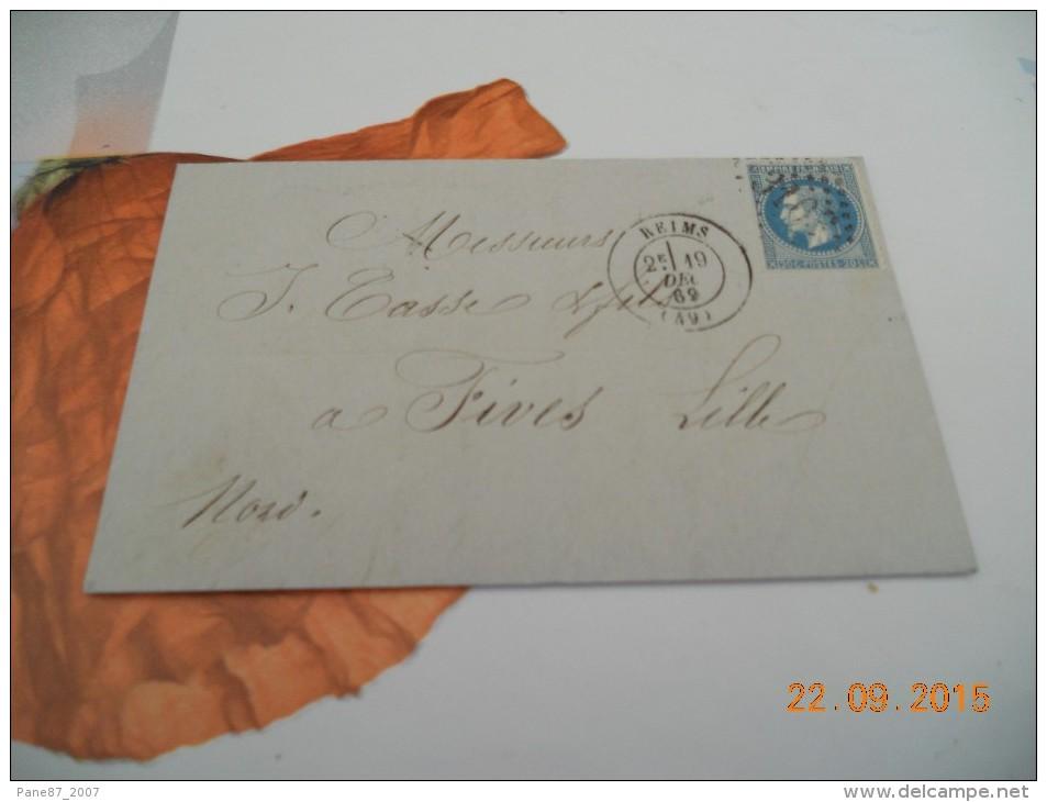 723    FIVES  LES  LILLE   REIMS - 1863-1870 Napoléon III Lauré