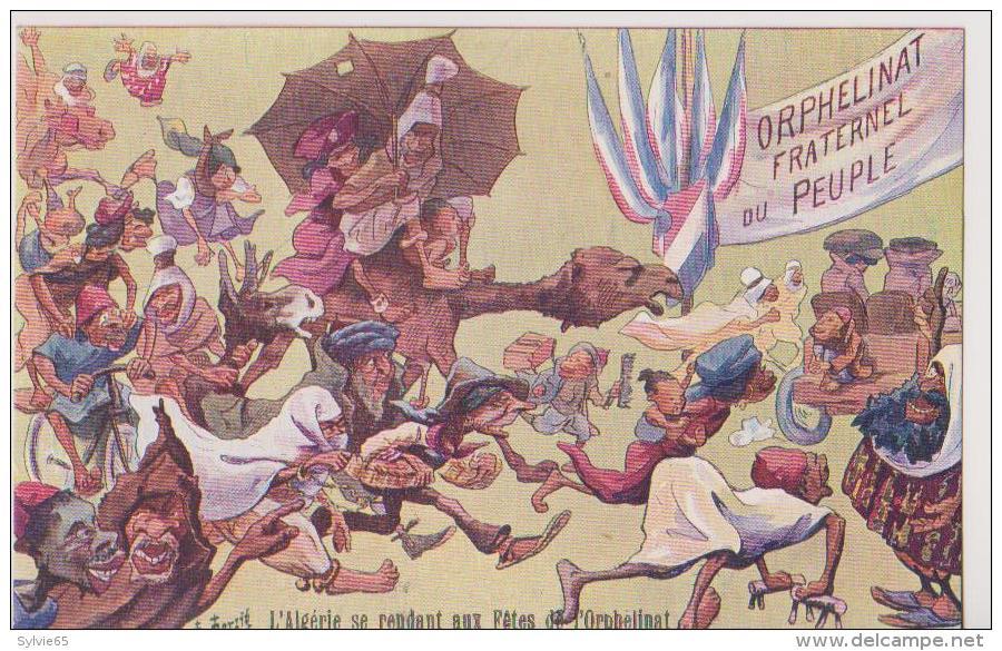 CPA ILLUSTREE-F-MERZIE?-ORPHELINAT FRATERNEL DU PEUPLE-L'ALGERIE SE RENDANT AUX FETES DE L'ORPHELINAT- - Other Illustrators