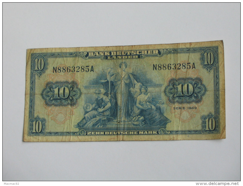 10 Zehn Deutsche Mark - Bank Deutscher Lande - Série 1949  - Allemagne - Germany **** EN ACHAT IMMEDIAT **** - 10 Deutsche Mark