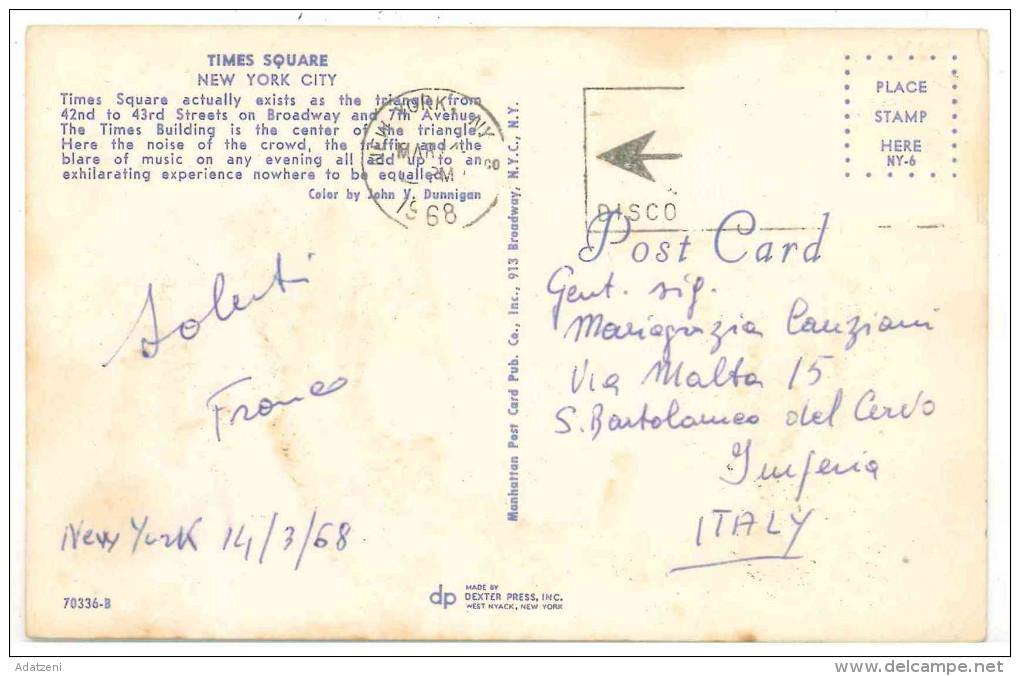FRA CARTOLINA POST CARD STATI UNITI D'AMERICA U.S.A. UNITED STATES OF AMERICA NEW YORK CITY – TIMES SQUARE  VIAGGIATA 19 - Time Square