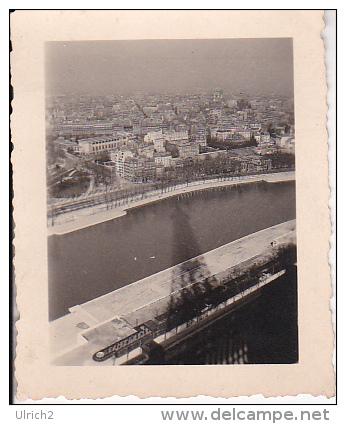 Foto Paris - Seine - Blick Vom Eiffelturm - 4*5,5cm - WW2 (19011) - Orte