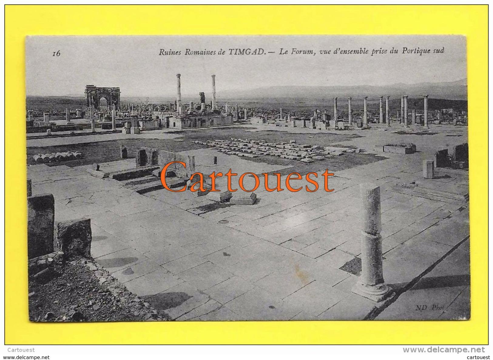 Algérie (Batna) TIMGAD - Ruines Romaines Le Forum Vue D Ensemble  TOP - Batna
