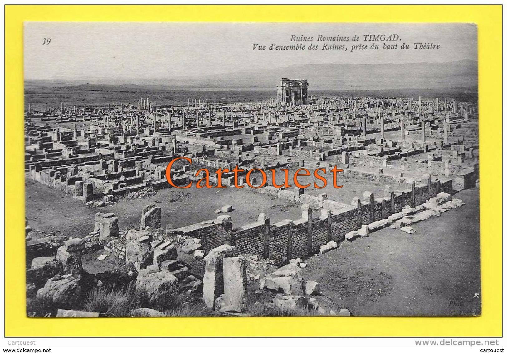 Algérie (Batna) TIMGAD - Ruines Romaines Vue Ensemble Ruines TOP - Batna