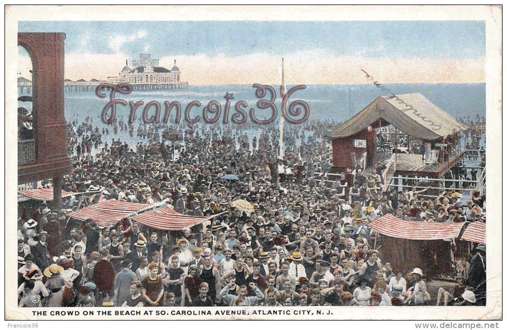The Crowd On The Beach At So. Carolina, Atlantic City, New Jersey - 2 SCANS - Atlantic City