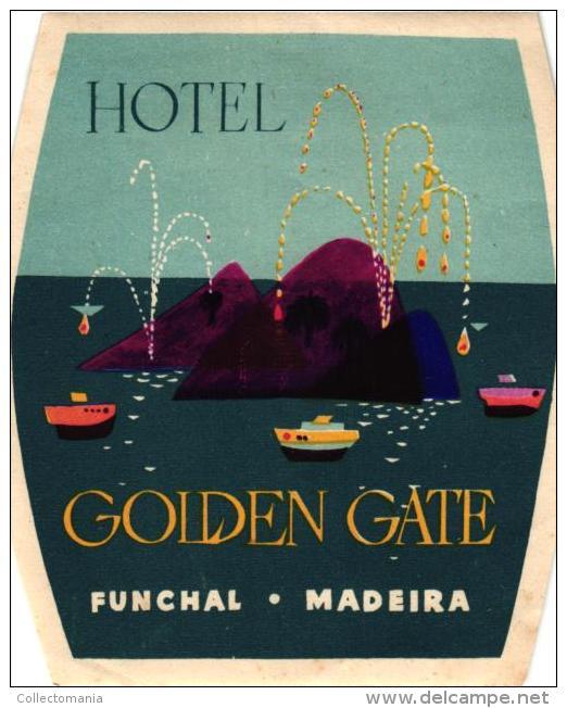 11 HOTEL Labels PORTUGAL  MADEIRA Funchal Estoril Porto Braga Lisboa Sagres NAMPULA - Hotel Labels