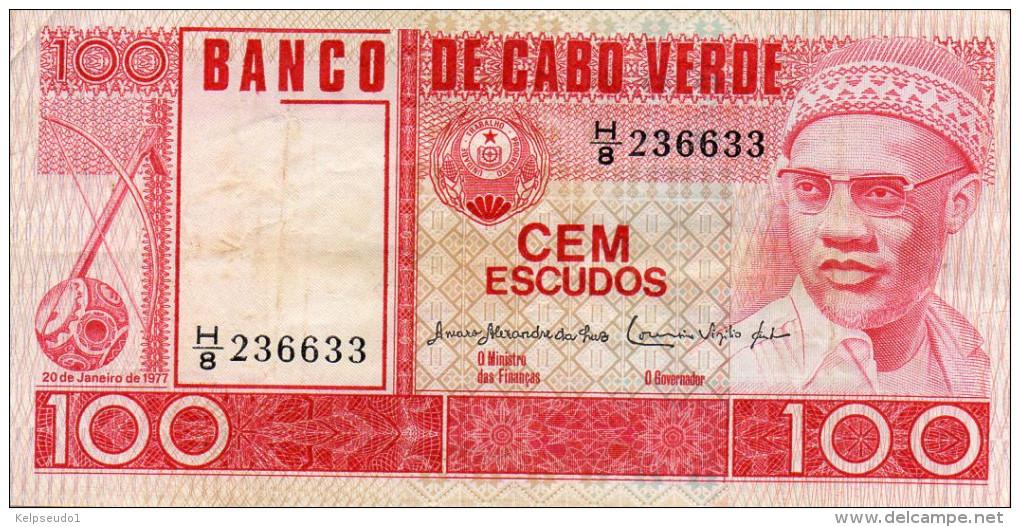 CAP VERT : 100 Escudos 1977 (vf) - Cabo Verde