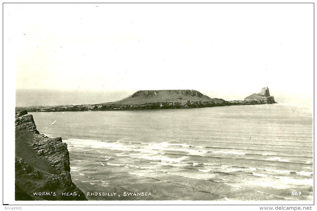 Rhossilly. Swansea. Worm's Head. - Pays De Galles