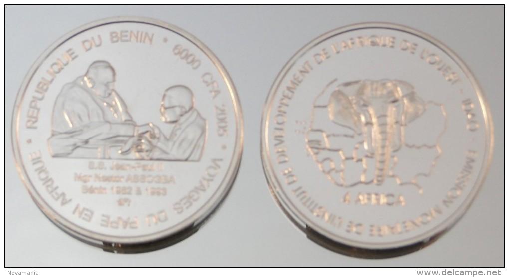Bénin 6000 CFA 2005 Archbishop Argent Pur .999 Pape - Benin