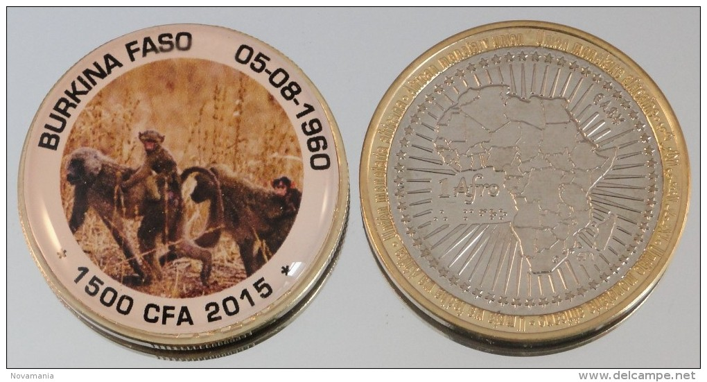 Burkina Faso 1500 CFA 2015 Bimetal Couleurs Animal - Burkina Faso