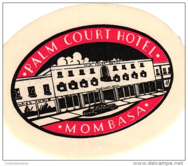 23 HOTEL Labels KENIA Mombasa Nairobi  Ukunda Kaptagat Malindi Sindbad Lawfords Eden Blue Marlin - Hotel Labels