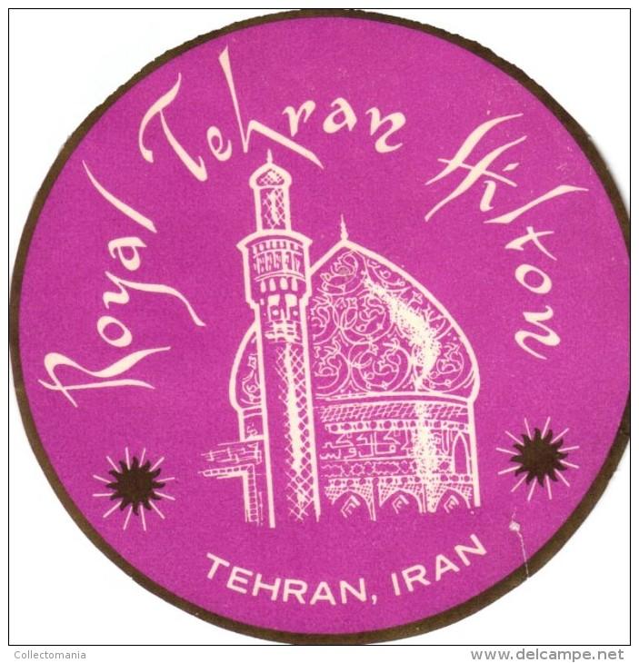 13 HOTEL Labels ALGERIE Philippeville Constantine Oran MOROCCO Casablanca Marrakech Tehran LIBANON - Hotel Labels
