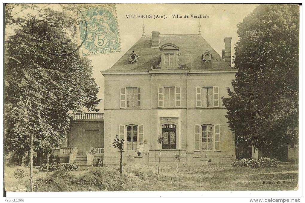 CPA VILLEBOIS - Villa De Verchère - 12203 - Altri Comuni