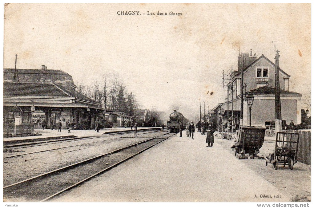 Chagny. Les Deux Gares. - Chagny
