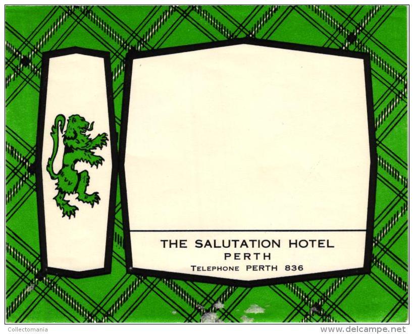 9 HOTEL Labels AUSTRALIA Great Barrier Reef  Perth  TASMANIA FIJI Islands NEW ZEALAND Auckland Roturua Maori Aboriginal - Hotel Labels