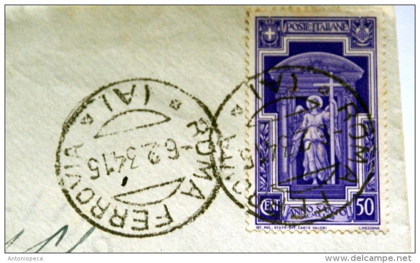 ITALIA 1933 - ANNO SANTO SU  LETTERA  VIAGGIATA - 1900-44 Vittorio Emanuele III