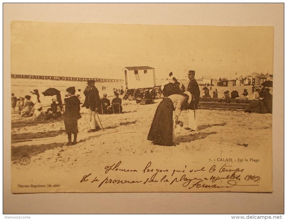 Carte Postale - CALAIS (62) - Sur La Plage (708/1000) - Calais