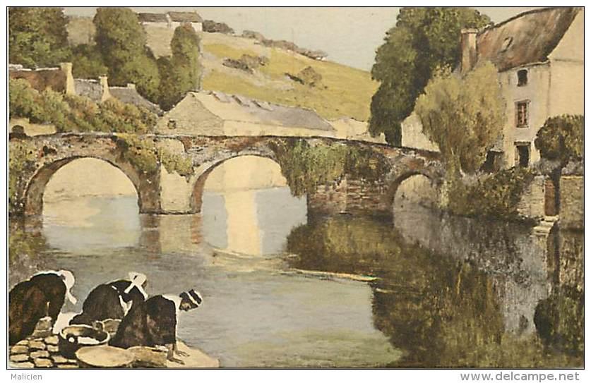 - Finistere - Ref D437 -  Carte Illustree - Laveuse - Laveuses - Pres D Un Pont - Carte Bon Etat - - France