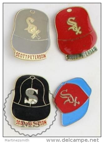 4 Chicago White Sox Scott Petersen Black Hats #PLS - Marcas Registradas