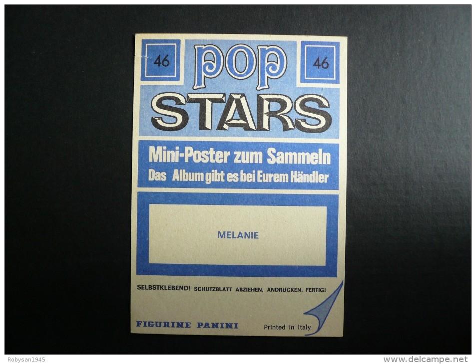Figurina Panini - POP STARS - Melanie - Panini