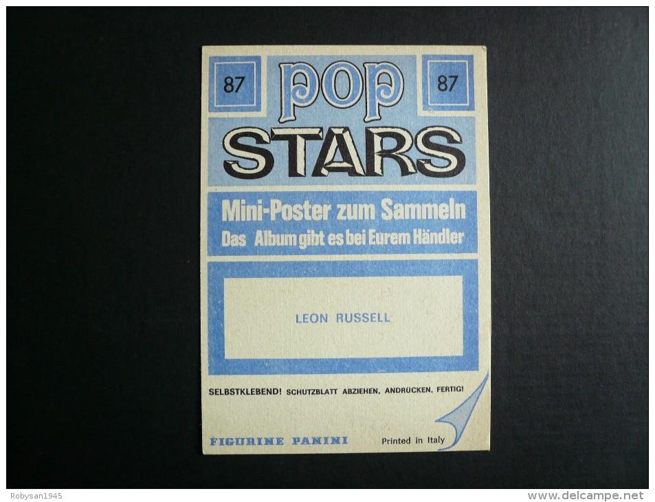 Figurina Panini - POP STARS - Leon Russel - Panini