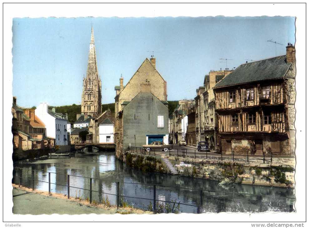 Cpsm Harfleur (76)  La Lezarde Et L Eglise Saint Martin- Cpsm76 - Harfleur