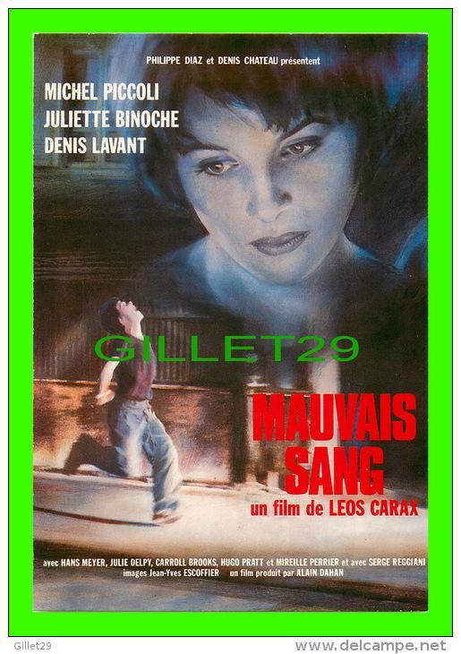 """AFFICHES DE FILM  """"MAUVAIS SANG"""" DE LÉOS CARAX, MICHEL PICCOLI - No E 381, ÉDITIONS, F. NUGERON - - Affiches Sur Carte"""