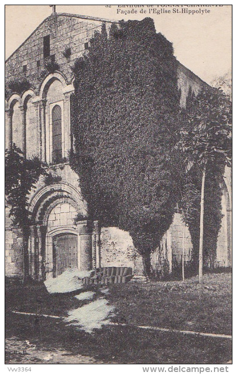 TONNAY-CHARENTE: Façade De L'Eglise St-Hippolyte - Autres Communes
