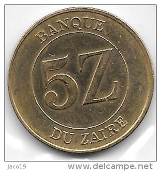5 Zaires 1987    Qualité++++++++++  Clas D 59 - Zaire (1971-97)