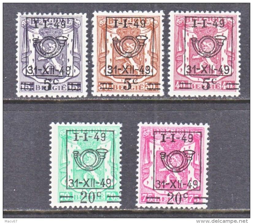 BELGIUM   390-4   * - Typo Precancels 1936-51 (Small Seal Of The State)