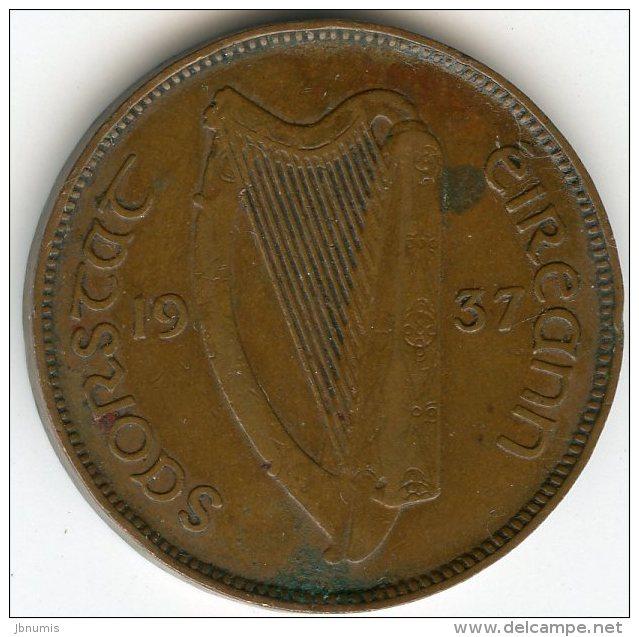 Irlande Ireland 1/2 Penny 1937 KM 2 - Irlande