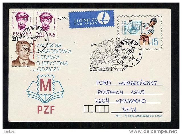 Poland Postal Stationery Postcard Used 1989 Milanowek To Germany (Z069) - Stamped Stationery