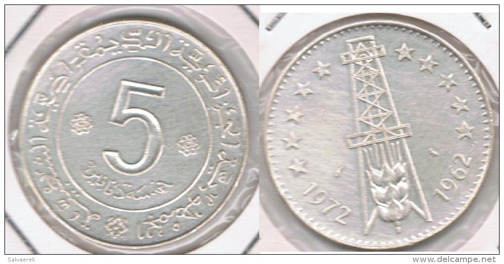ARGELIA 5 DINAR 1972 PLATA SILVER T - Argelia