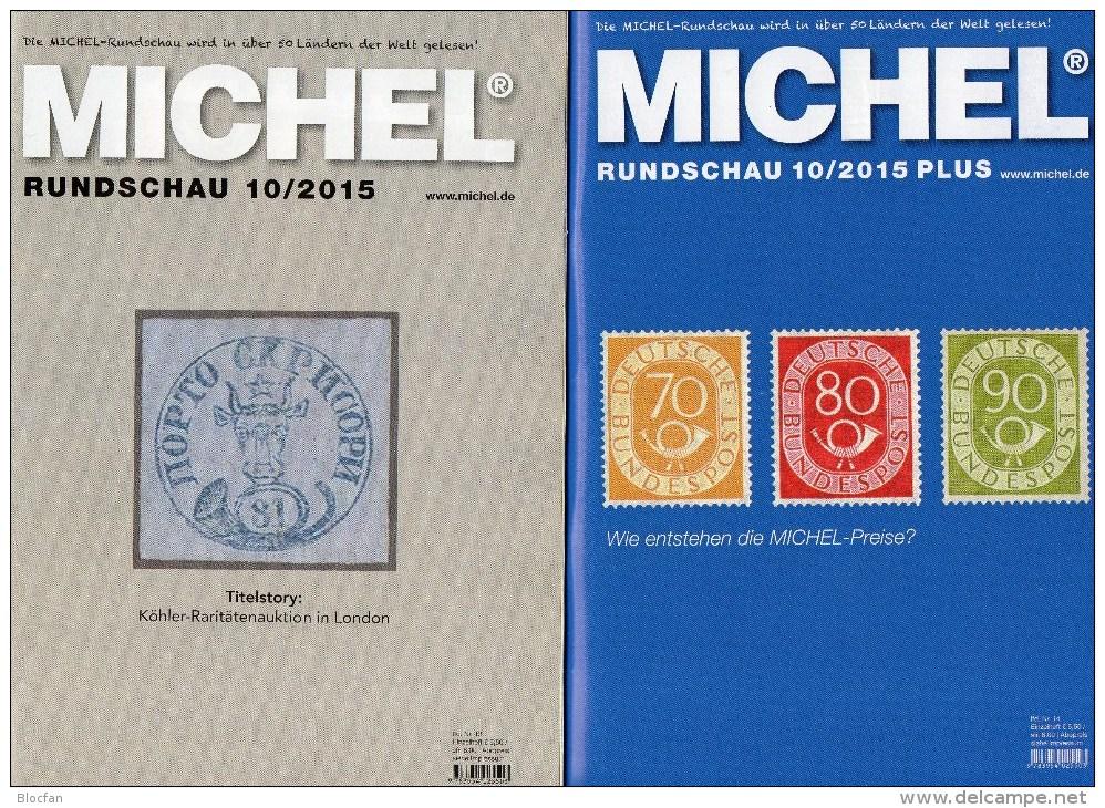 Rundschau MICHEL 10/2015 Sowie 10/2015-plus Briefmarken Neu 11€ New Stamp Of The World Catalogue And Magacine Of Germany - Magazines: Abonnements
