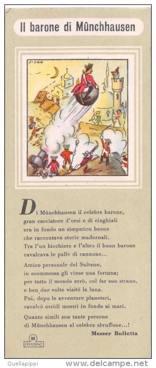 """02487 """"IL BARONE DI MUNCHHAUSEN - BO FIM TORINO FABBRICA INCHIOSTRI DITTA AUGUSTO BO"""" SEGNALIBRO NR. 6 - ORIGINALE - Segnalibri"""
