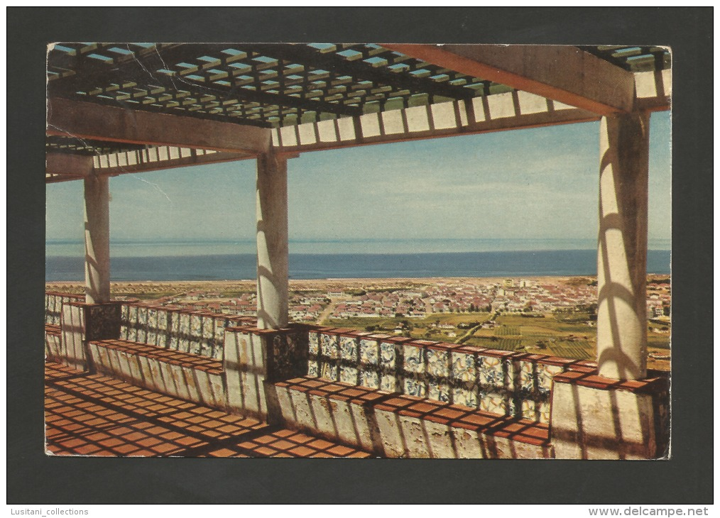 POSTCARD PORTUGAL ALMADA COSTA DA CAPARICA GENERAL VIEW 1960 YEARS - Portugal