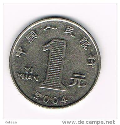 ***  CHINA  1 YI YUAN  2004 - China