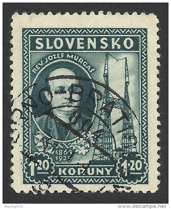 Slovakia, 1,20 K. 1939, Sc # 39, Mi # 47, Used. - Used Stamps