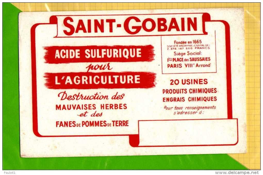 BUVARD & Blotting Paper : SAINT GOBAIN Pour L'Agriculture  Destruction Des Mauvaises Herbes - Agriculture