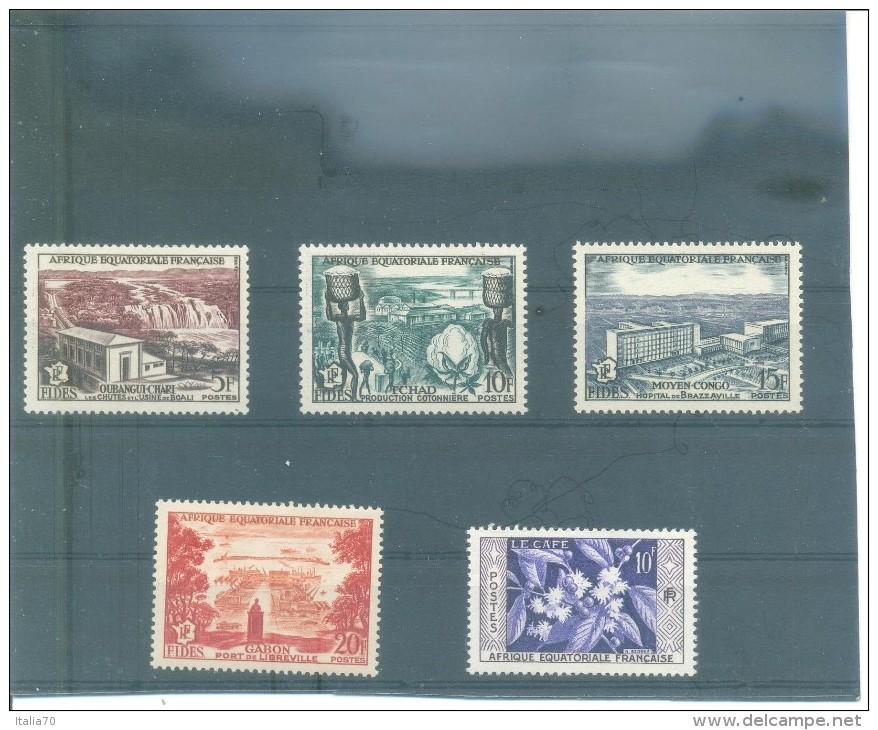 AFRICA EQUATORIAL FRANCESA 232/236 (5V) 1956 - A.E.F. (1936-1958)