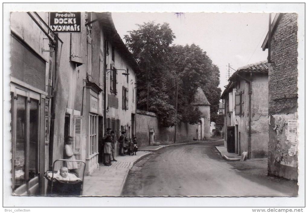 Prissé, Rue Du Centre, Docks Lyonnais, 1955, éd. Combier (Saône-et-Loire, 71) - France