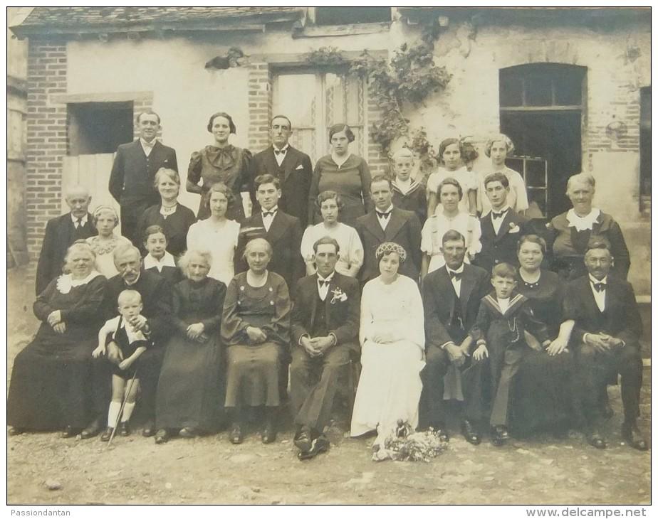 Photographie Sur Support Cartonné D'un Mariage - Cliché F. Tenard à Villenauxe La Grande - Anonymous Persons