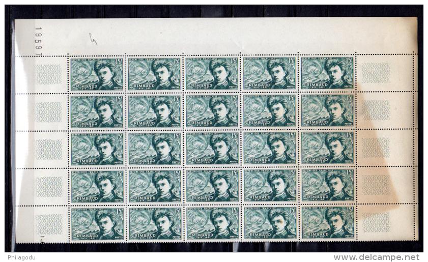 1951 Poètes, Baudelaire, Verlaine, Rimbaud, 908 / 910 **  Cote 75 €, - France