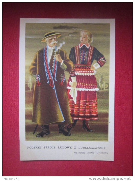 POLAND FOLK COSTUME POLSKIE STROJE PIPE - Europe