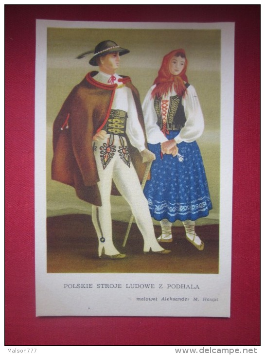 POLAND FOLK COSTUME POLSKIE STROJE - Europe