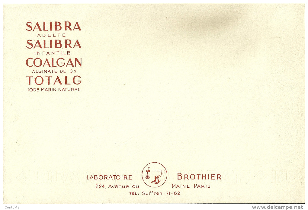BUVARD PUBLICITE LABORATOIRE BROTIER SALIBRA COALGAN TOTAL MEDECINE SANTE - Produits Pharmaceutiques