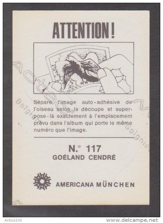 AMERICANA MUNCHEN VIGNETTE ADHÉSIVE AUTO COLLANT N° 117 GOÉLAND CENDRÉ - 2 Scans - - Stickers