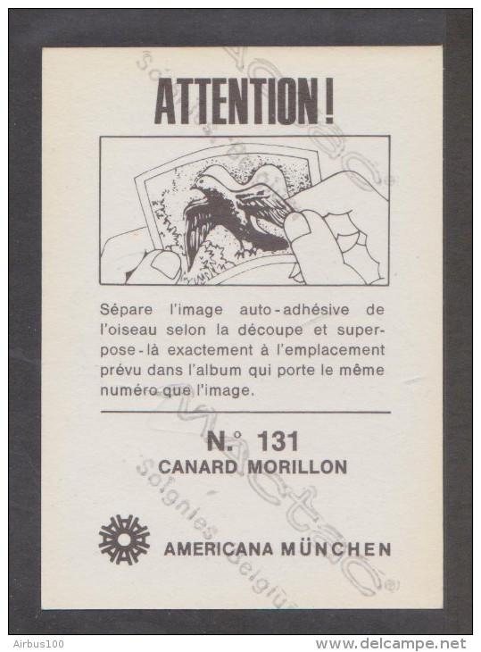 AMERICANA MUNCHEN VIGNETTE ADHÉSIVE AUTO COLLANT N° 131 CANARD MORILLON - 2 Scans - - Stickers