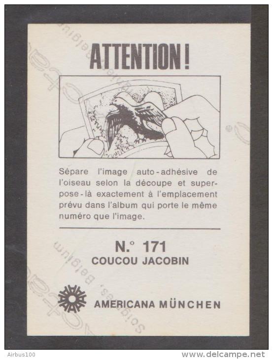AMERICANA MUNCHEN VIGNETTE ADHÉSIVE AUTO COLLANT N° 171 COUCOU JACOBIN - 2 Scans - - Unclassified